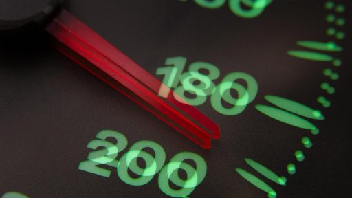 Blurred vision of a speedometer