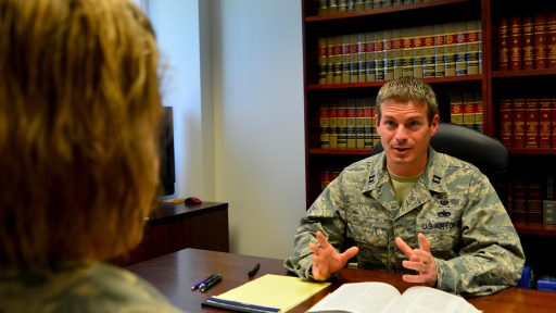 Service member gives legal counsel