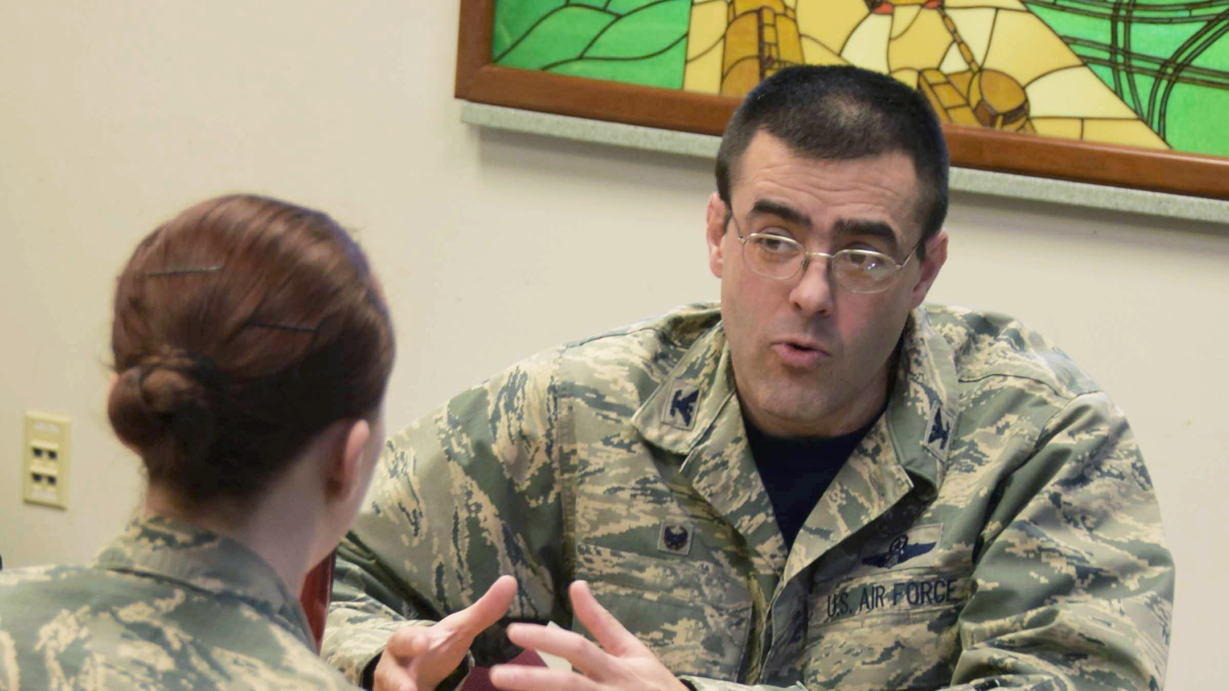 Service member provides peer-to-peer support