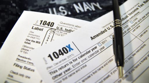 Stack of tax forms