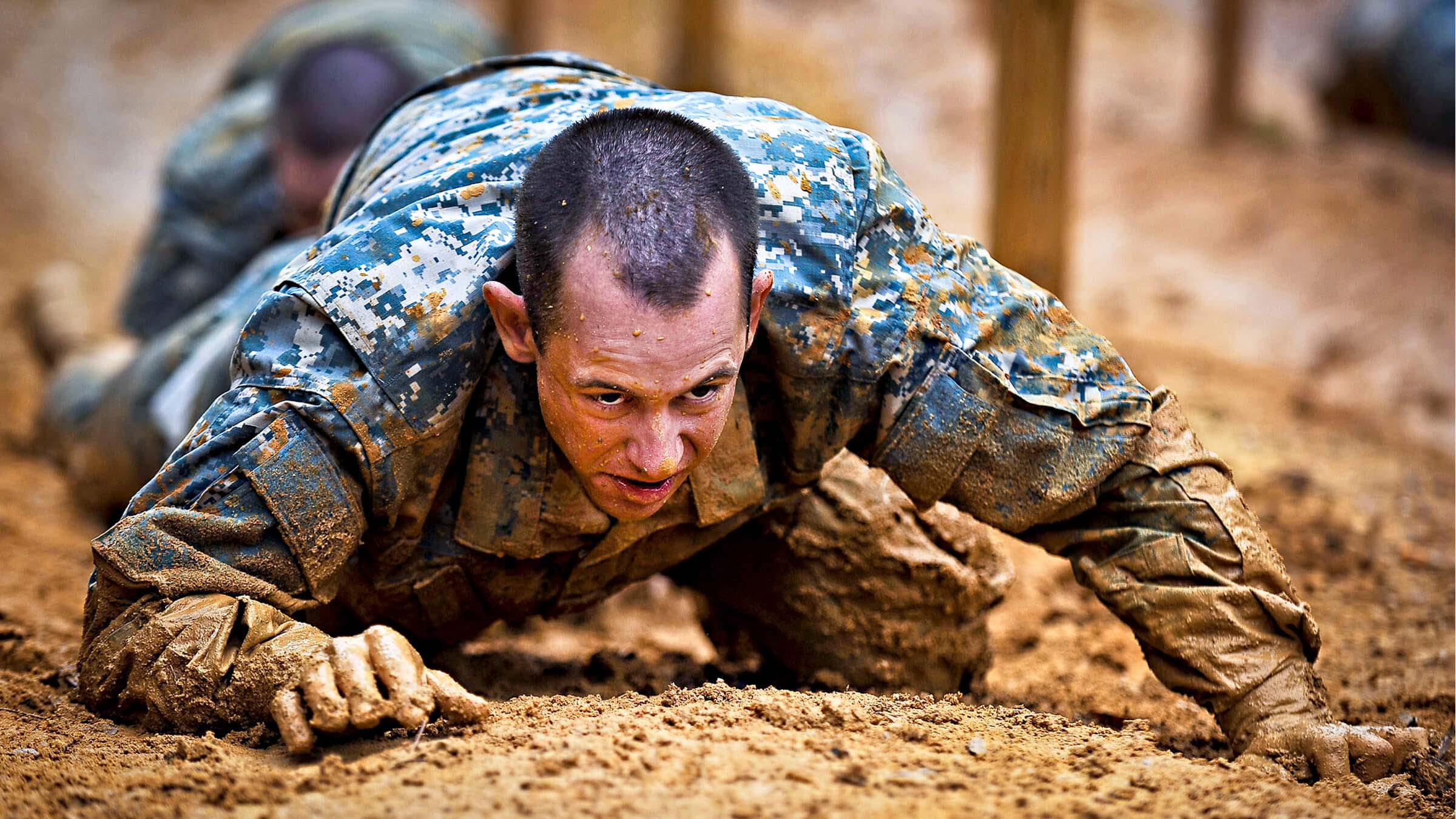 Service Member Doing Pushups