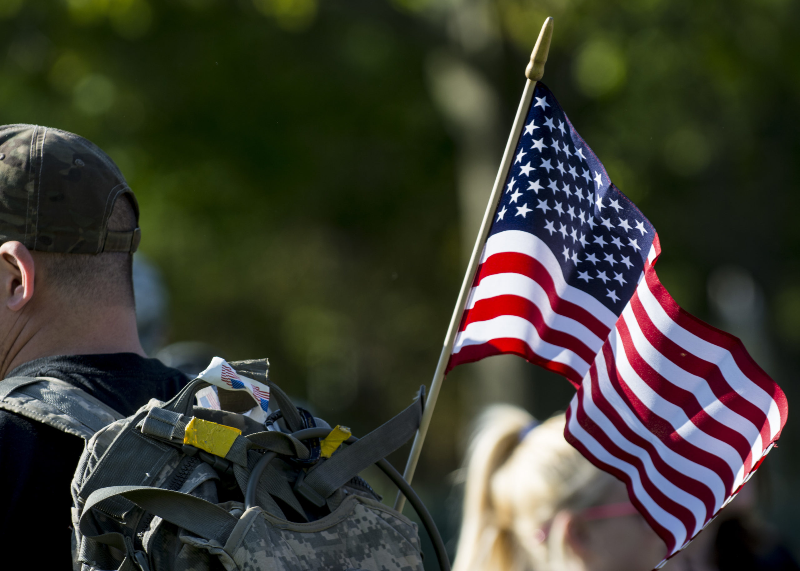 Veteran marches to honor those who suffer from Post-Traumatic Stress Disorder or died by suicide.