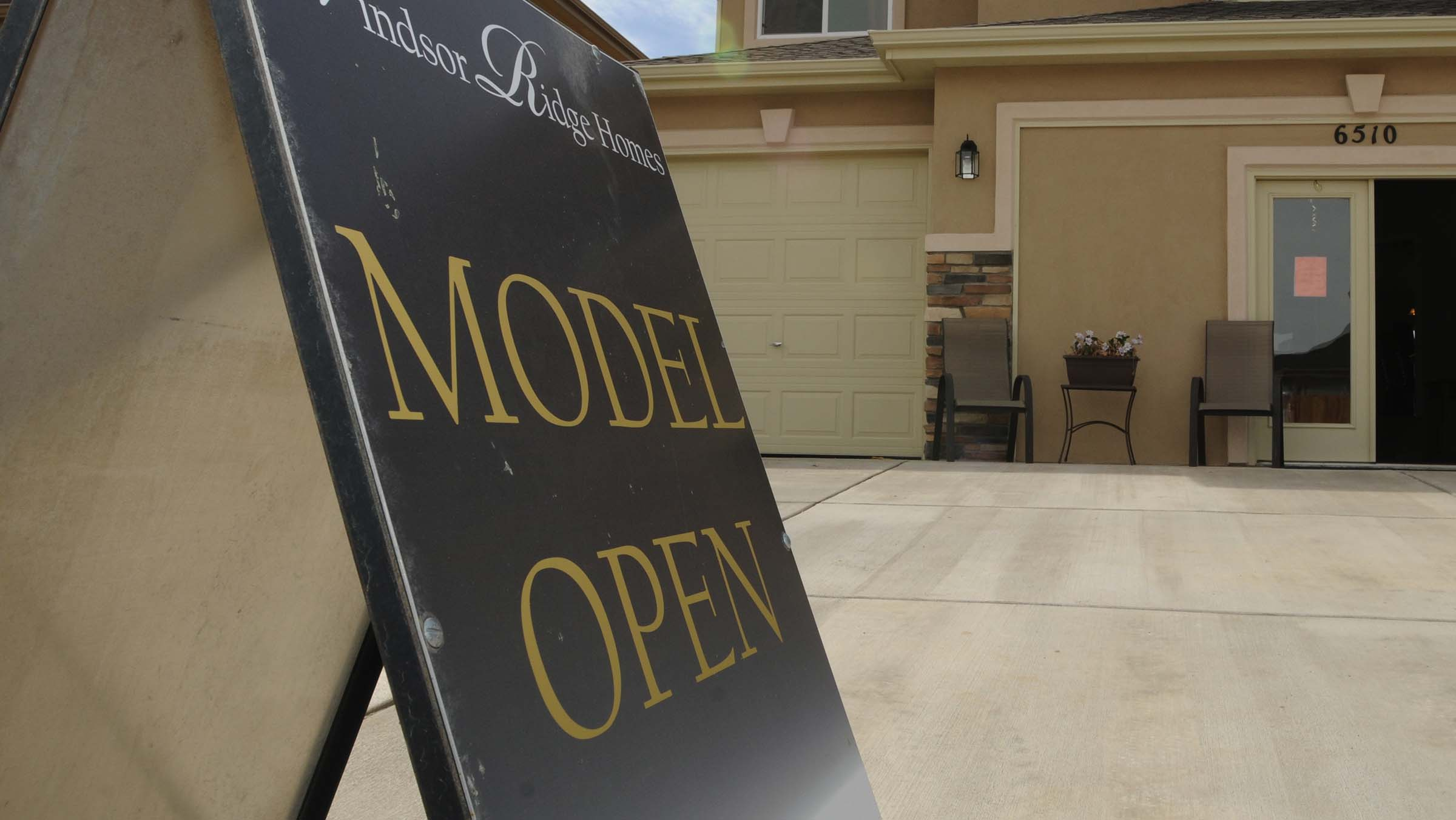 Real estate company hosts open house on their model homes.