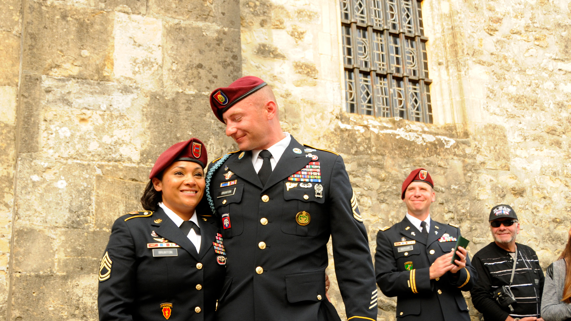 Service member husband and wife renew their vows