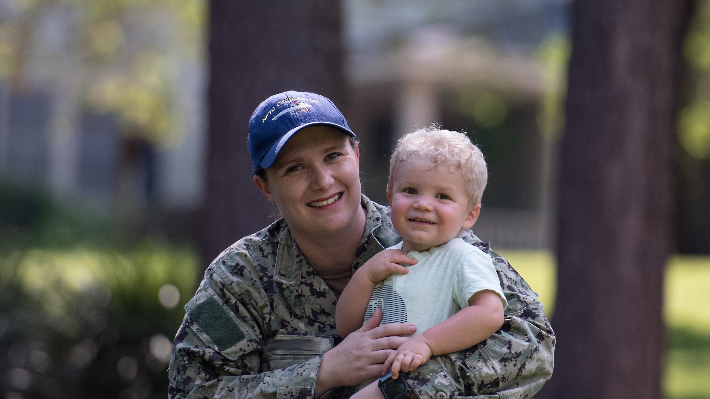 service member mother and son