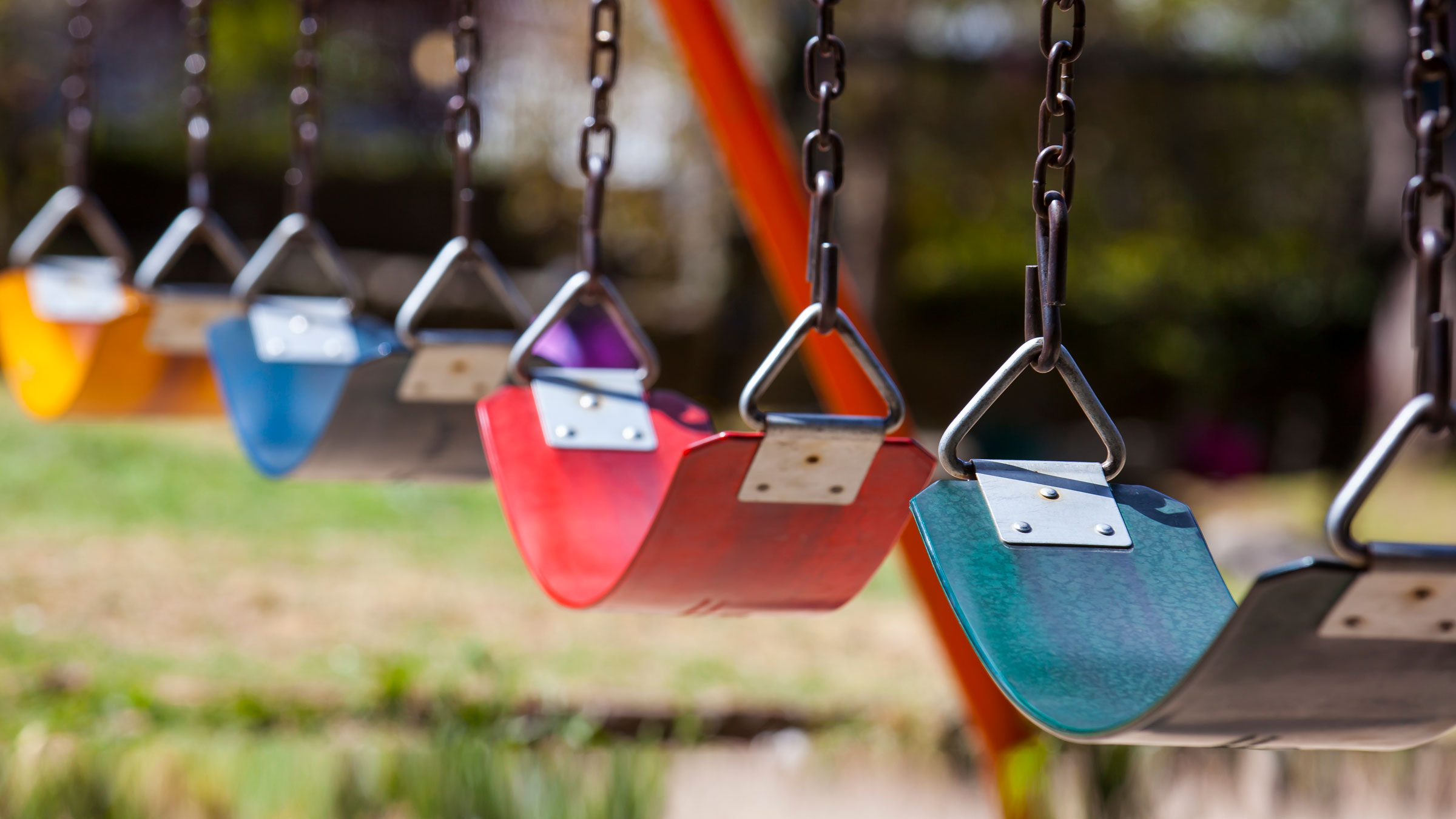 Swings at playground.