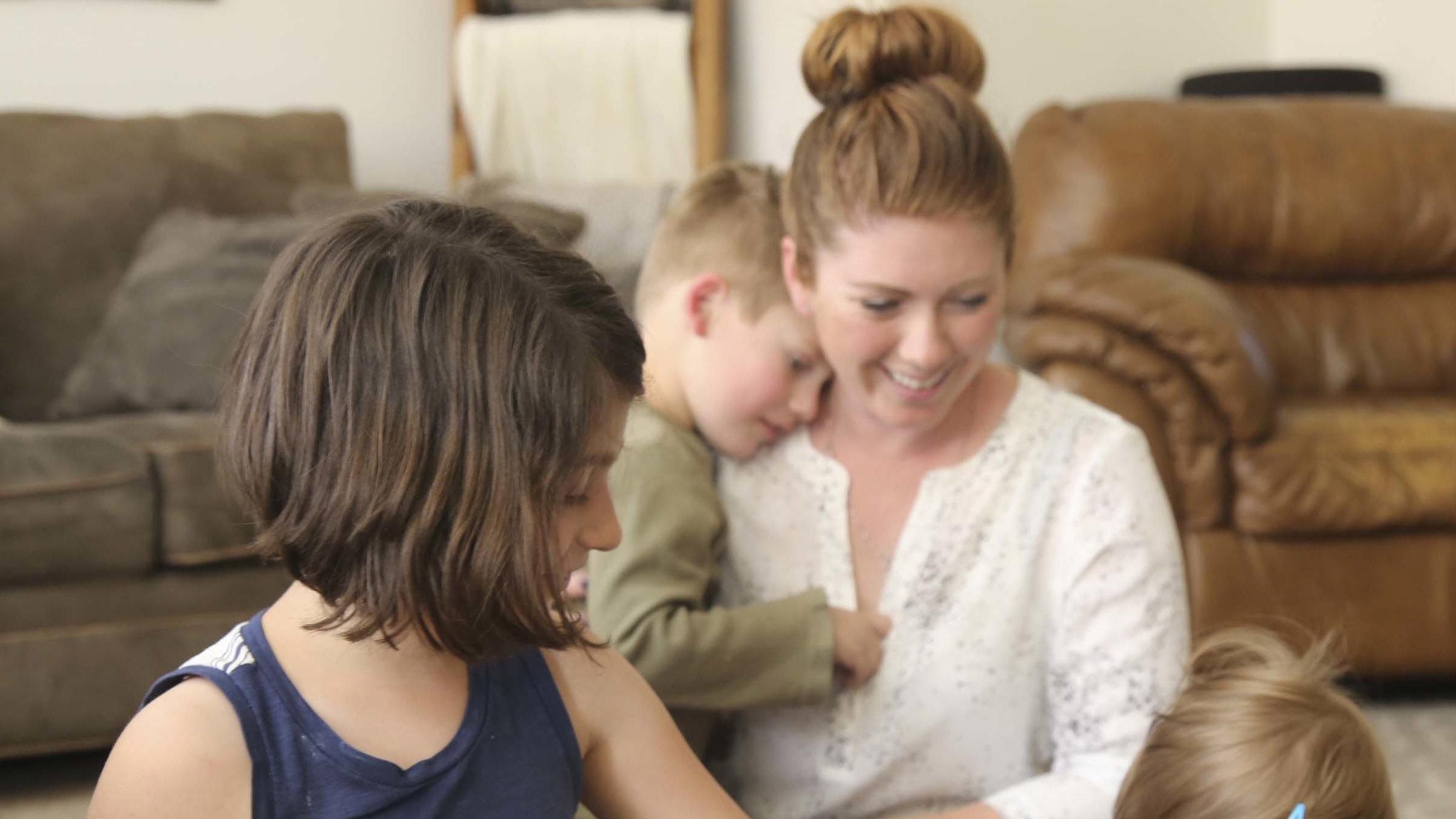 Spouse and family of service member enjoy time in their new home