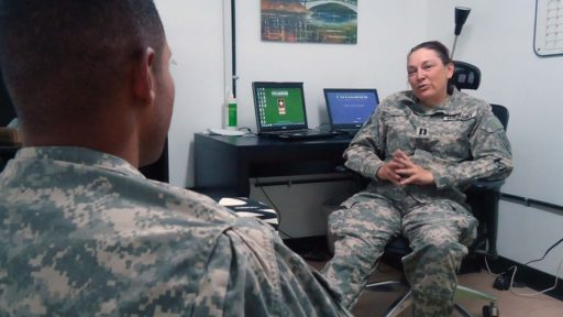 Counselor helps a service member struggling with depression.