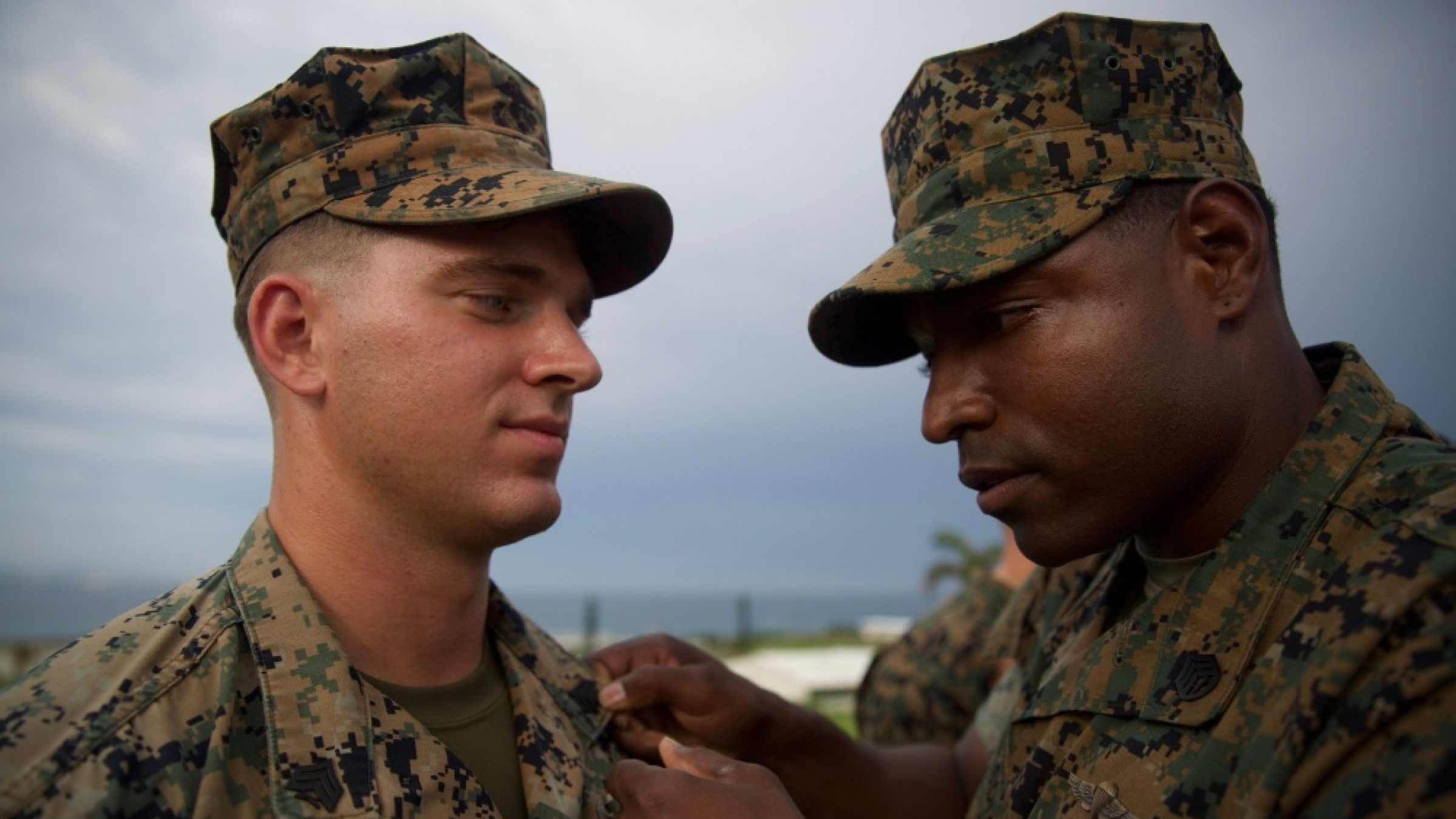 Marine is meritoriously promoted by staff sergeant.
