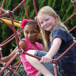 Two girls at a playground