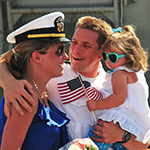 Service Member with his family