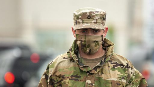 Soldier with mask