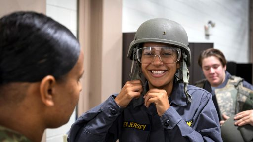 A cadet with the National Guard Youth ChalleNGe Program