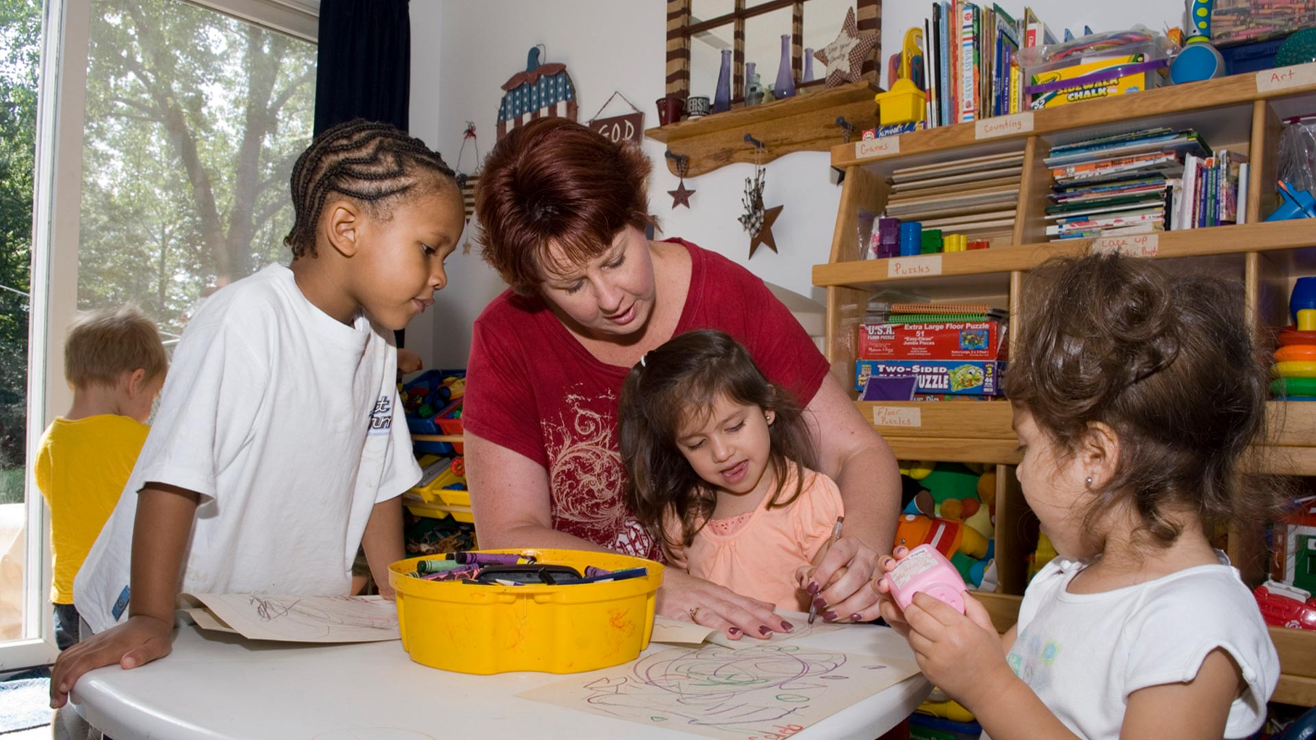 Child care provider with children in home