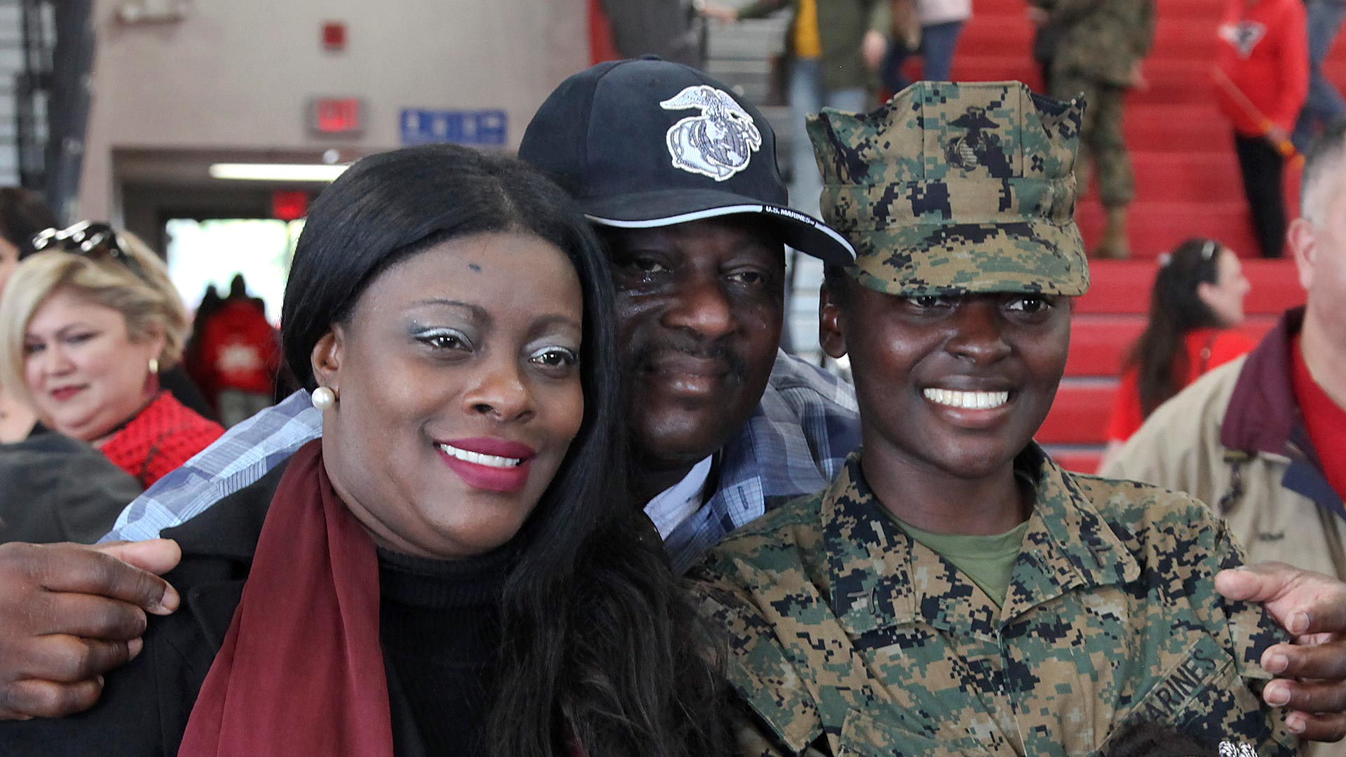parents with service member daughter
