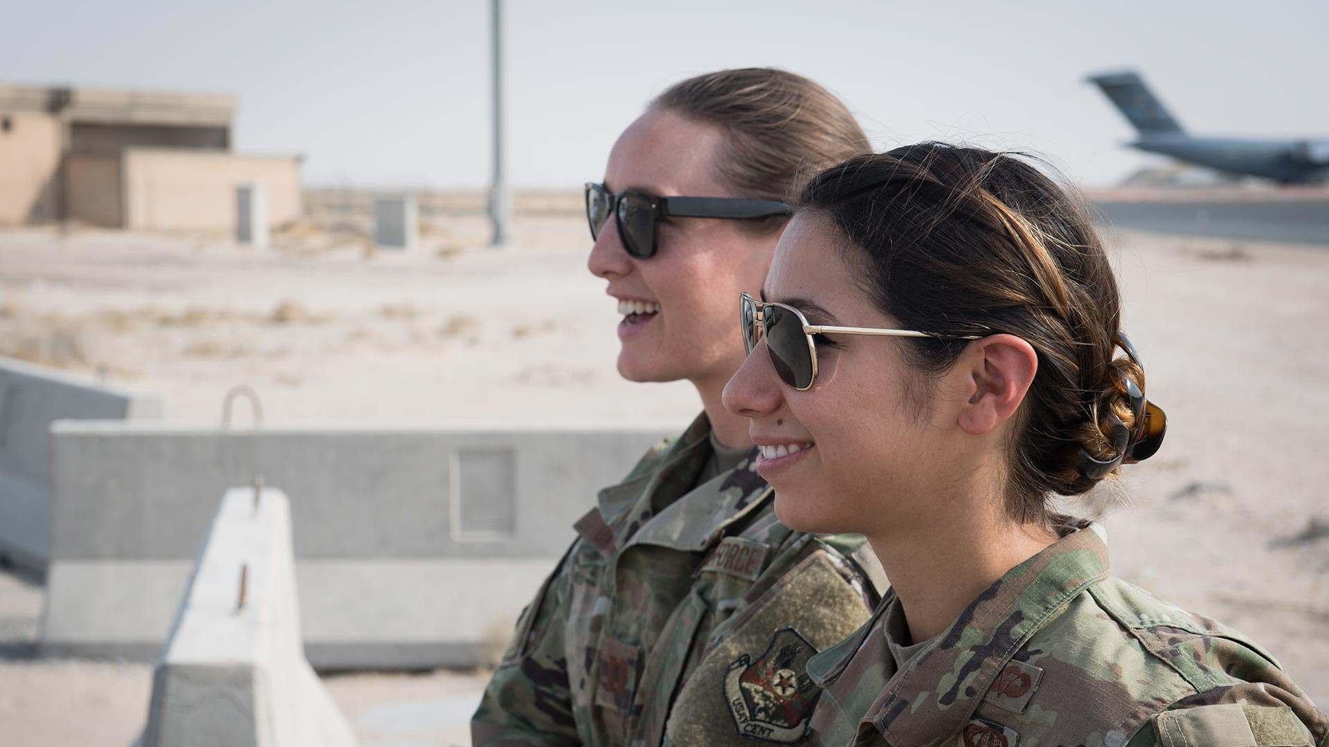 two service members outdoors