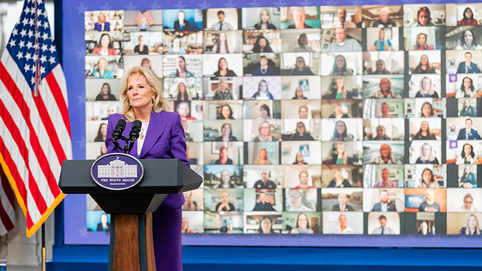 Dr. Jill Biden speaking on Joining Forces