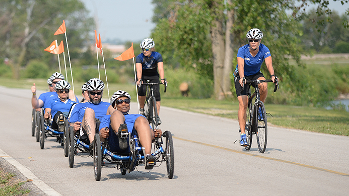 Wounded Warriors on bicycles
