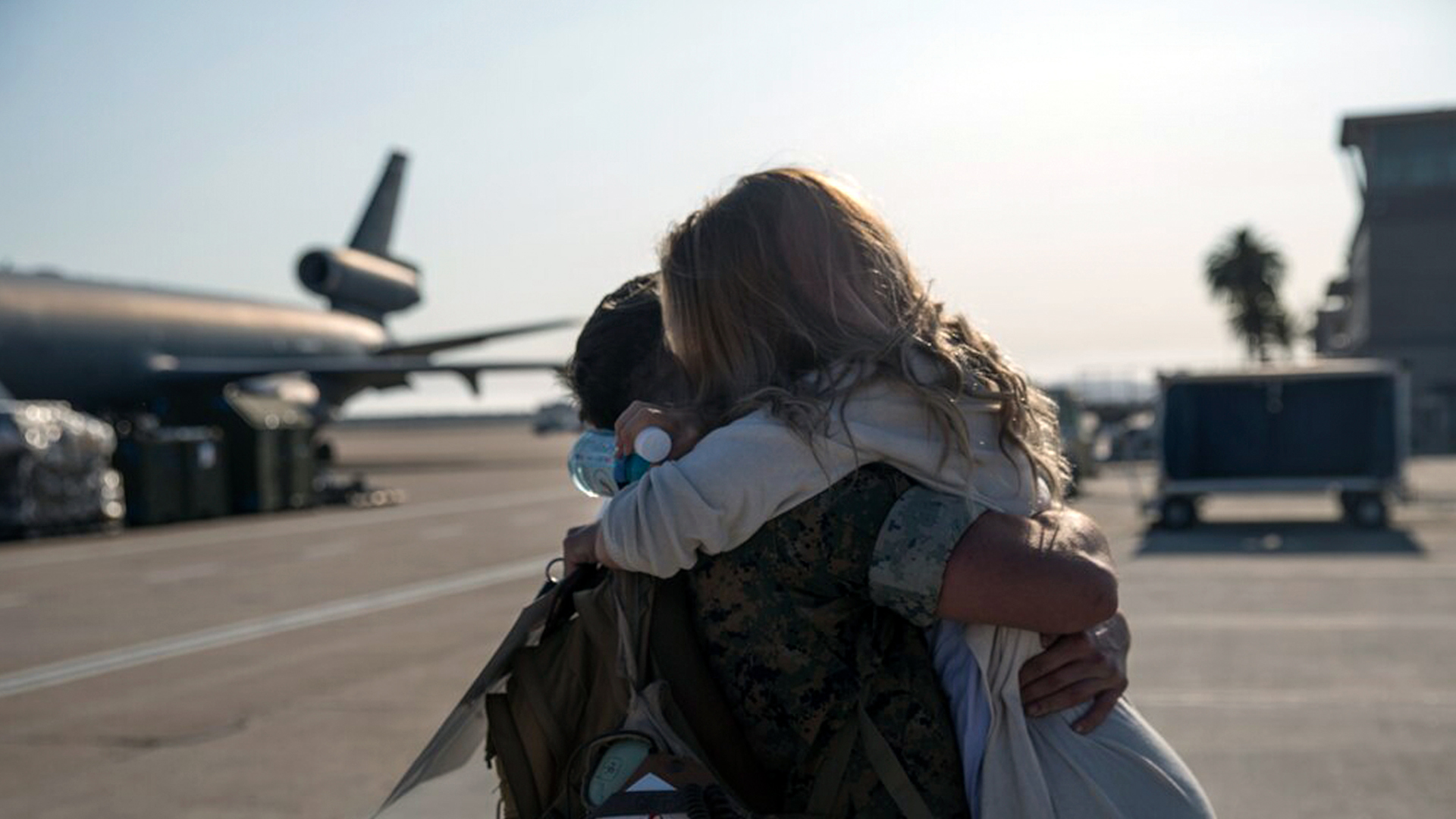 Couple reunited after deployment