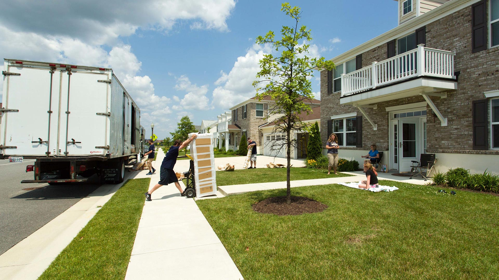 Family moving into new housing