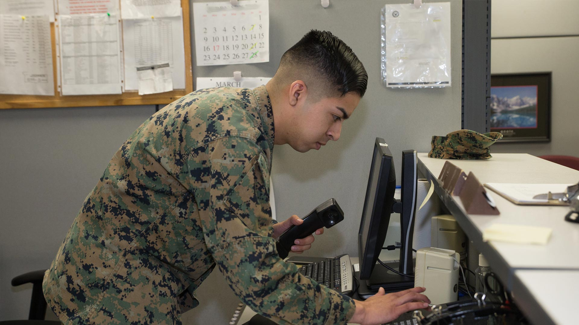 Marine assisting with a PCS question