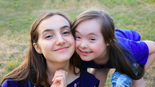 Mother with special needs child